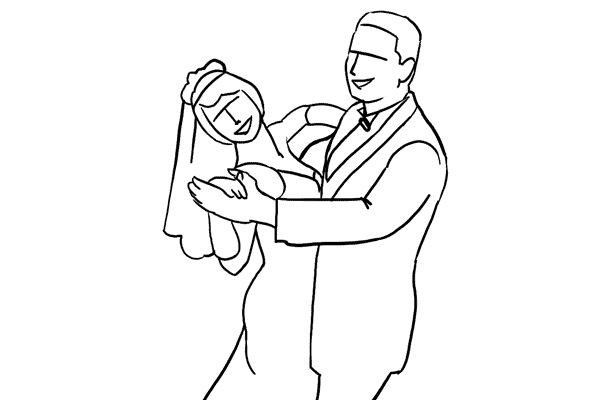 kaip pozuoti vestuvese
