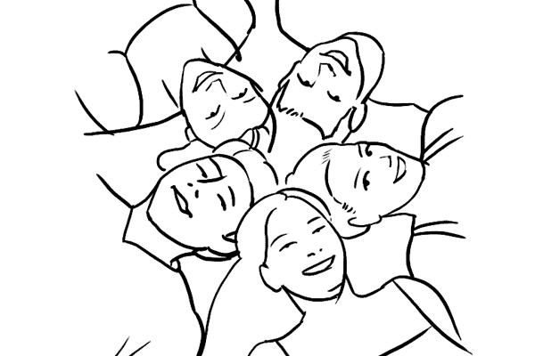 kaip pozuoti draugams